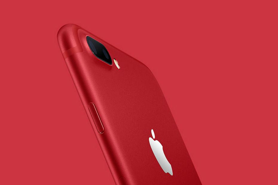 Apple lance un iPhone 7 rouge pour la bonne cause