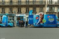 L'animation Pepsi Next dans le quartier de l'Opéra à Paris