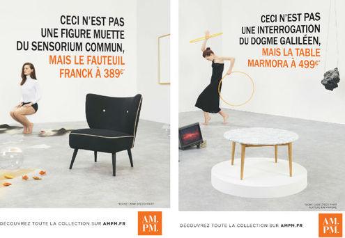deux des trois affiches de la nouvelle campagne ampm - Meubles La Redoute Nouvelle Collection