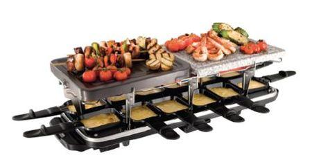 Trio raclette xxl russell hobbs voit la raclette en grand for Appareil convivial