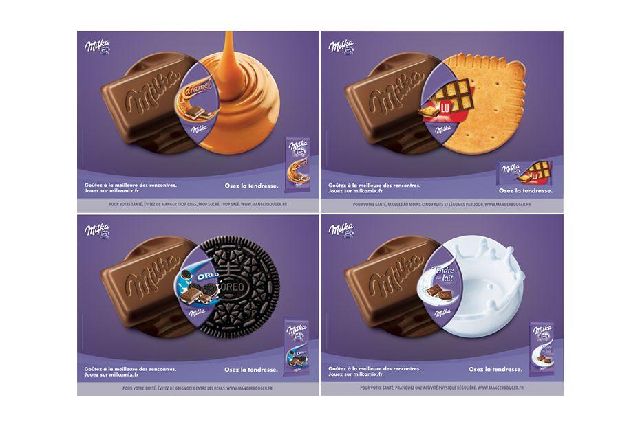 la campagne originale et humoristique de milka biscuiterie confiserie petit d jeuner. Black Bedroom Furniture Sets. Home Design Ideas