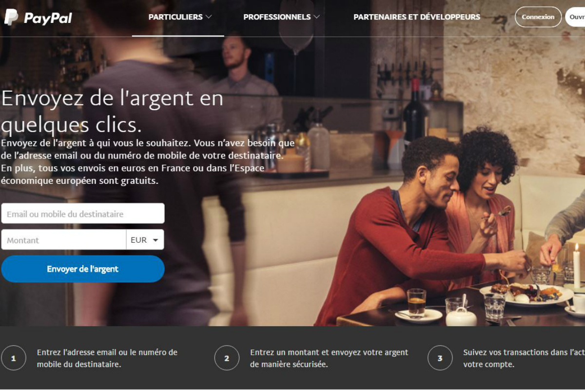paypal facilite les transactions entre proches. Black Bedroom Furniture Sets. Home Design Ideas
