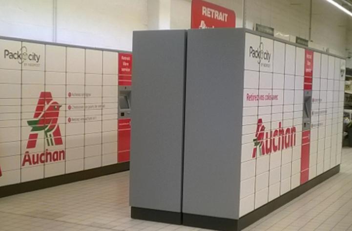 Auchan installe des consignes packcity dans for Email auchan