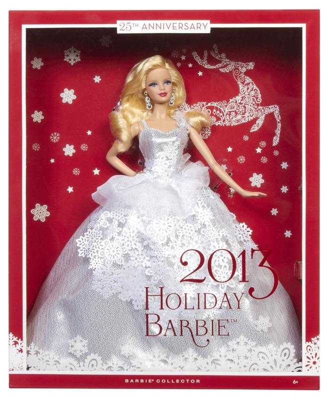 La poup e barbie collector joyeux no l 2013 de barbie - Barbie de noel 2012 ...