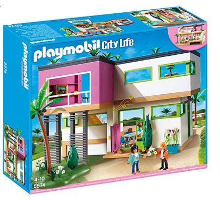 La bo te de jeu la maison moderne de playmobil for Maison moderne jeu
