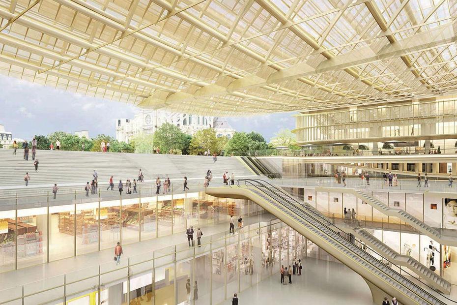 Le forum des halles va revoir le jour en avril - Magasin les halles paris ...
