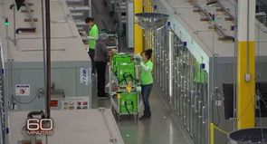 Un entrepôt d'Amazon, dont les conditions de travail sont de plus en plus dénoncées par les syndicats.