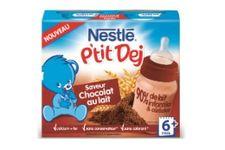 Le petit déjeuner « Nestlé P'tit Dej » saveur chocolat au lait