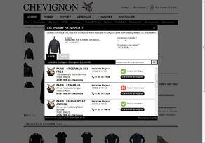 Chevignon souhaite inciter ses clients du web à venir en magasin.