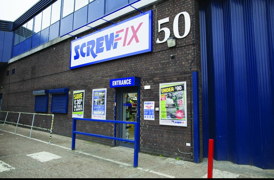 Point de vente Screwfix à Londres