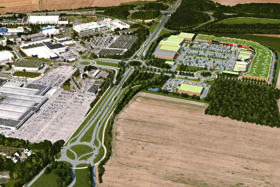 Frey d marre le chantier du retail park - Zone commerciale amiens nord ...