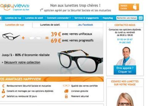 e5449b5ac3202 Le site Happyview promet des lunettes pour un prix jusqu à quatre fois  inférieur à