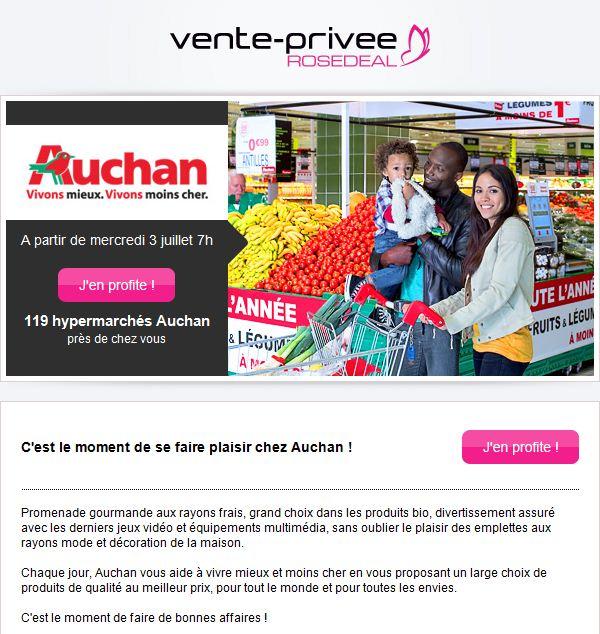 Vente priv e propose des bons d 39 achat auchan - Site similaire vente privee ...