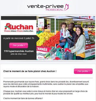 Vente priv e propose des bons d 39 achat auchan for Email auchan