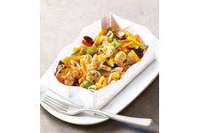 Papillote aux crevettes et légumes wok de Thiriet