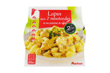Lapin aux deux moutardes et ses pommes de terre Auchan