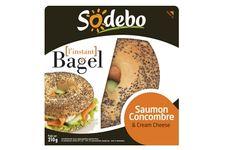 L'Instant Bagel saumon concombre de Sodebo