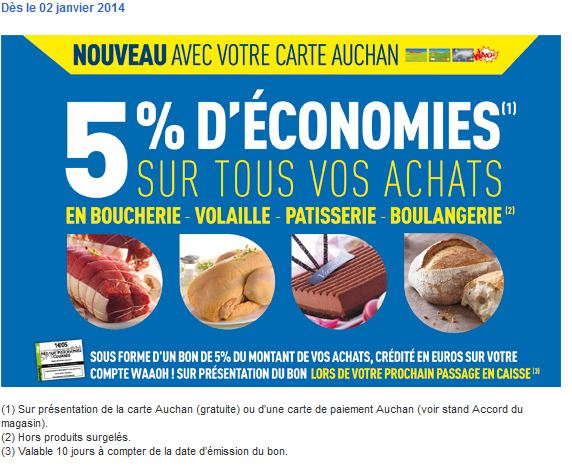 Carte Accord Auchan Compte Waaoh.Auchan Muscle Les Avantages De Sa Carte