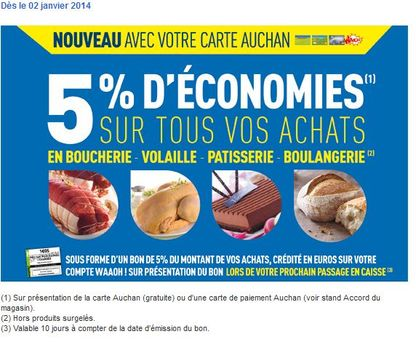 Carte Accord Avantages.Auchan Muscle Les Avantages De Sa Carte
