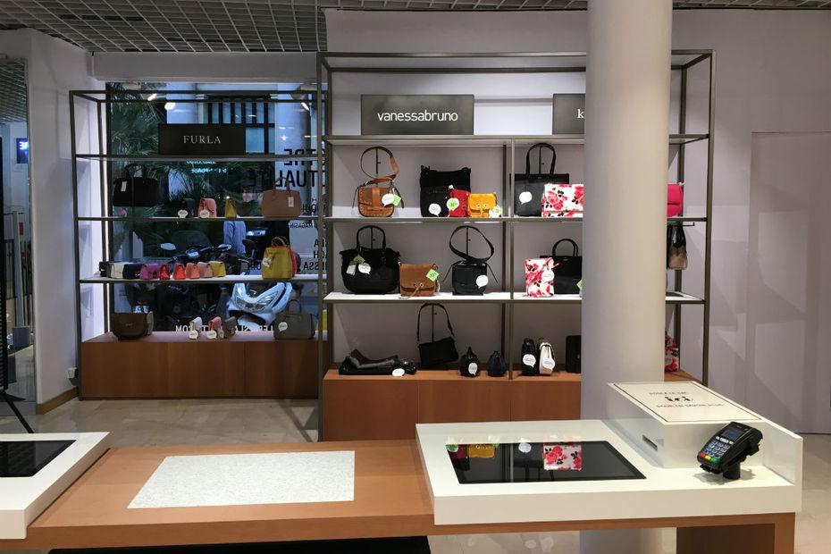 La maroquinerie connectée des Galeries Lafayette de Cannes couvre un ...