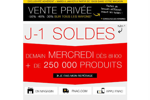 3fd35f40dd70a La Fnac organise des pré-soldes dès le 6 janvier 2015.