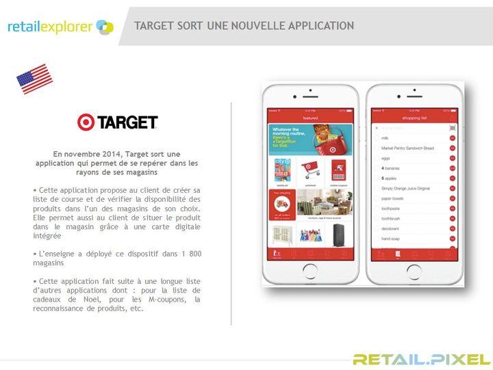 target lance une application mobile qui guide. Black Bedroom Furniture Sets. Home Design Ideas