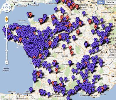Carte Auchan Drive.La Carte De France Des Drive In Enquaªtes Sur La