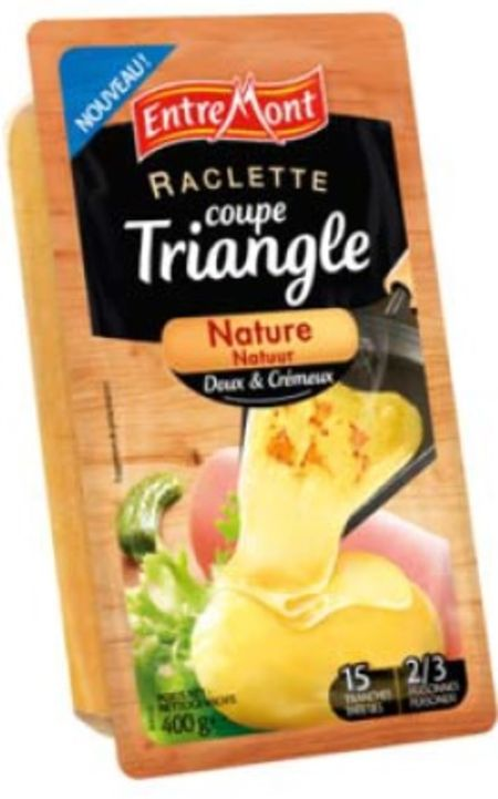 La raclette coupe triangle nature d entremont - Coupe fromage a raclette ...