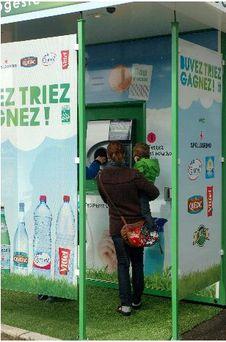 Recyclage bouteille plastique intermarche