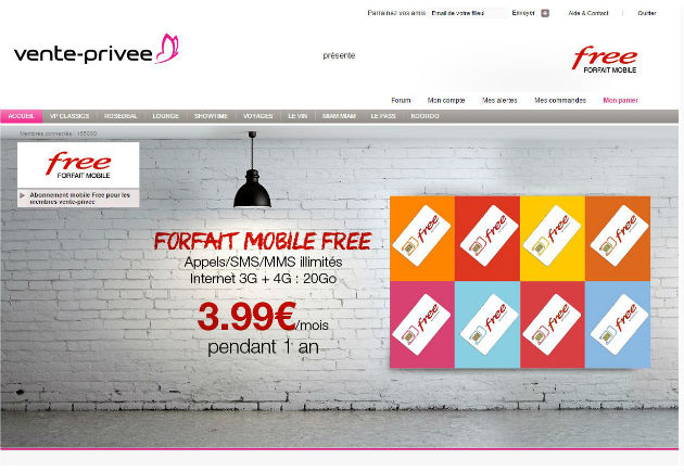 Free casse ses prix sur le site vente priv e march multim dia - Site similaire vente privee ...