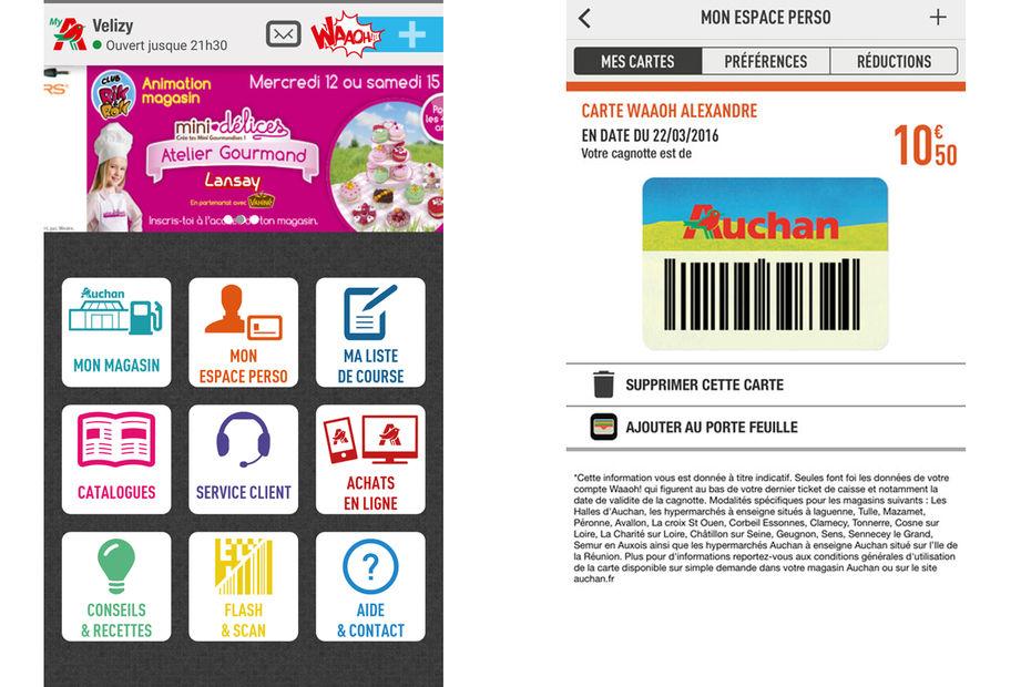 Le paiement mobile viendra s'ajouter dans l'application MyAuchan.