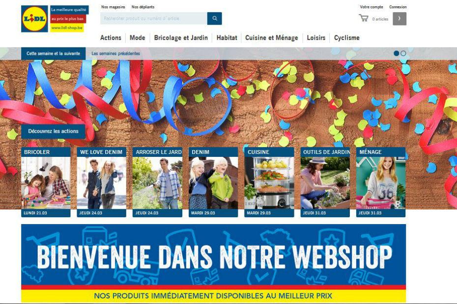 Lidl Belgique se lance dans la vente en ligne. Mais seulement pour ses  marques propres 979527feffe5