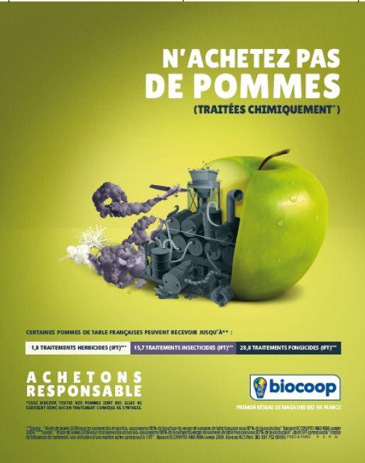 biocoop gagne pour sa campagne publicitaire fruits et l gumes. Black Bedroom Furniture Sets. Home Design Ideas