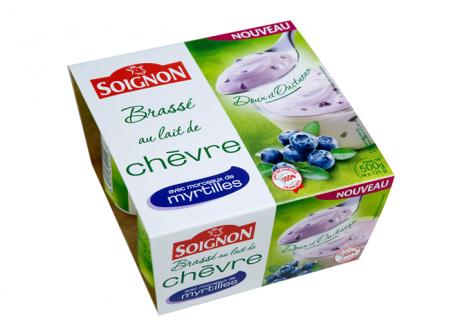 Yaourt brass au lait de ch vre et aux myrtilles - Yaourt maison lait de chevre ...