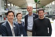 Une partie de l'équipe parisienne d'Alcméon, installée à Station F