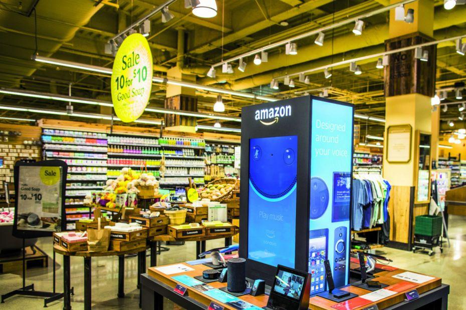 5d533f69da4 Un magasin Whole Foods avec un corner de produits Amazon.