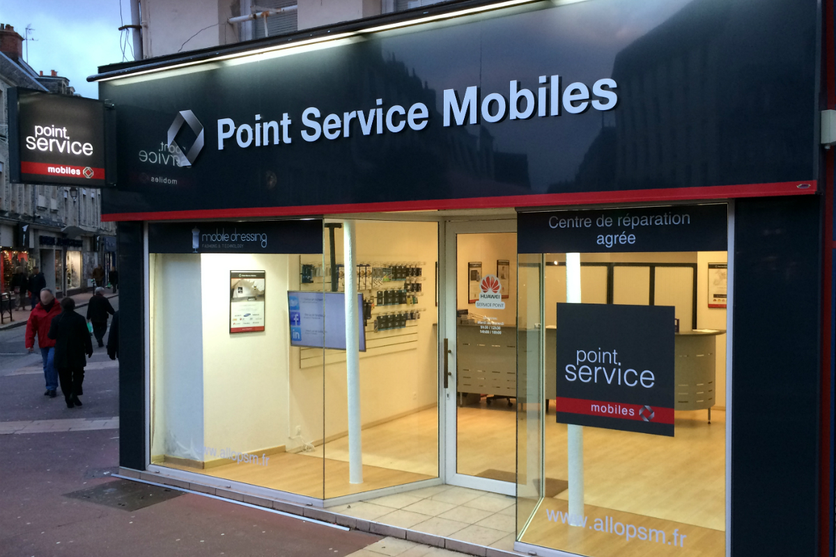 point service mobiles 200 points de vente. Black Bedroom Furniture Sets. Home Design Ideas