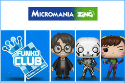 Micromania Zing (groupe GameStop) lance le Funko Club Europe : accessible gratuitement sur simple inscription en magasin, ce club offre des promotions et produits exclusifs aux fans des figurines Funko Pop! .