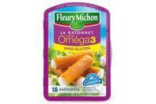 Bâtonnets Moelleux de Surimi Riche en Oméga 3 Sans Gluten Fleury Michon
