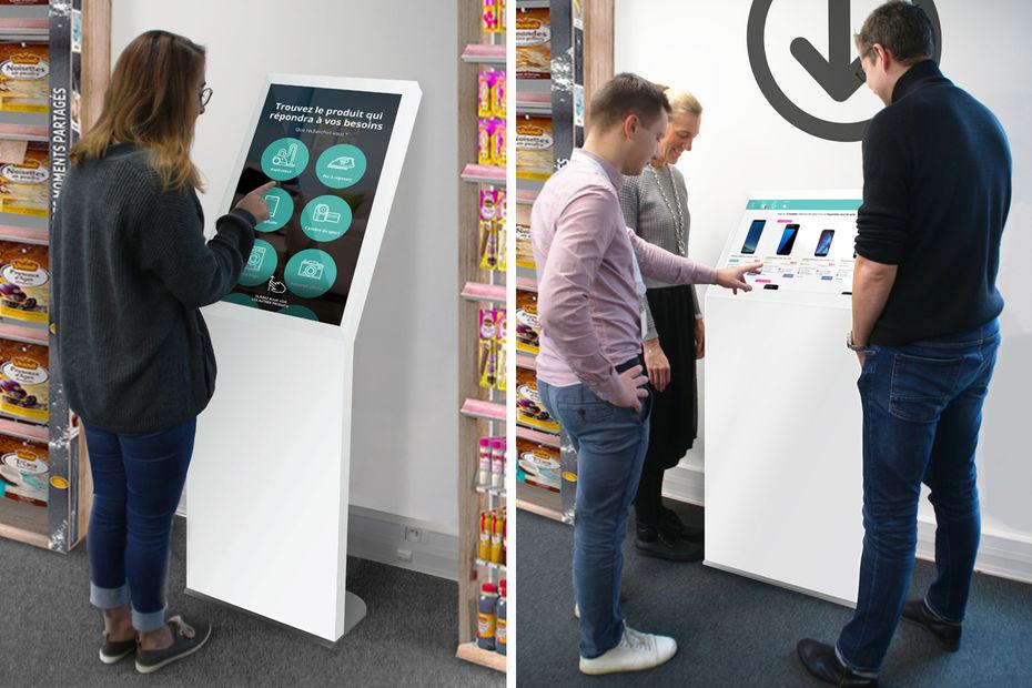 Digitalisation : des kiosques en test chez Auchan.