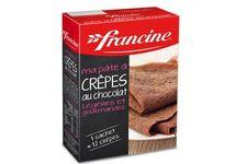 Ma pâte à crêpes au chocolat Francine