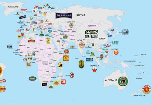 A chaque pays sa bi re infographie bi res cidres et - Quel est le nom le plus porte au monde ...