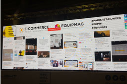 Social Wall Paris Retail Week 2016