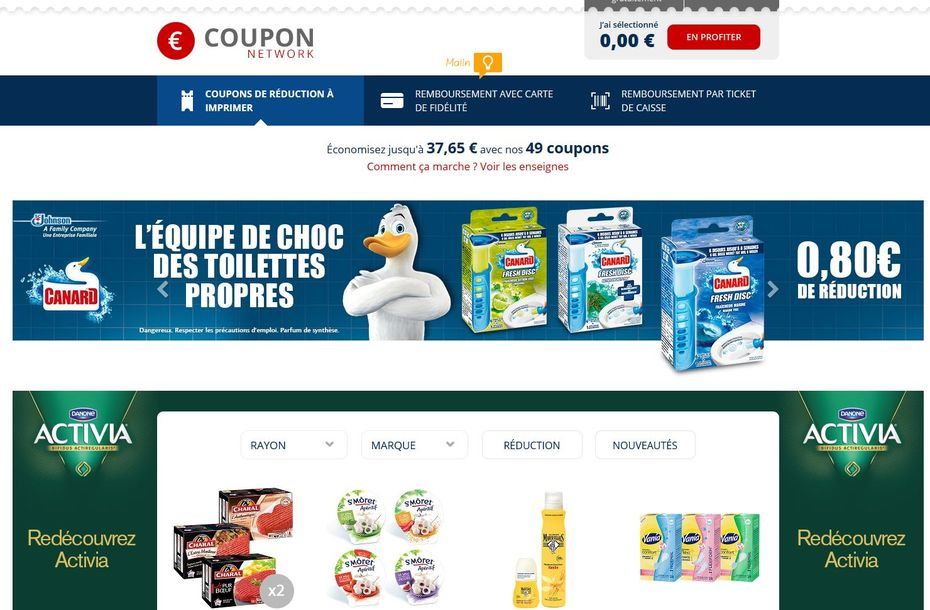 Coupon network, l'application de Catalina ex C-Wallet