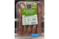 Saucisses de Porc Ail et Fines Herbes Carrefour