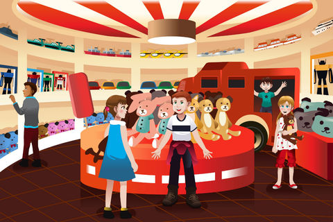 Le type de magasins où les enfants aiment en premier aller avec leurs  parents est, fd309ef65d14
