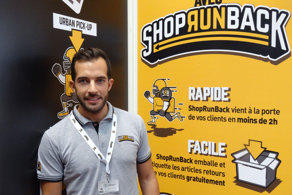 ShopRunBack exposait dans le village des start-ups lors du salon e-commerce 2015.