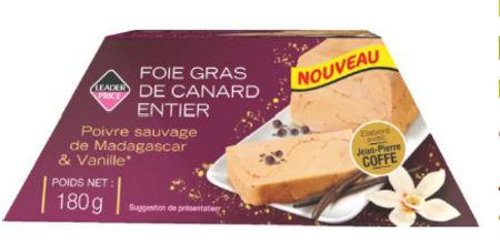 foie gras de canard entier poivre sauvage de madagascar et vanille de leader price. Black Bedroom Furniture Sets. Home Design Ideas
