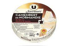 Camembert de Normandie au lait cru moulé à la louche Saveurs U