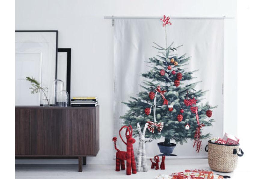 d co de no l un sapin trompe l 39 oeil. Black Bedroom Furniture Sets. Home Design Ideas